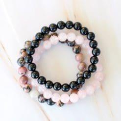 stress relief crystal bracelet set